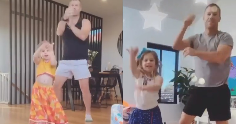 David Warner Shares Adorable Video With His Daughter Dancing On A Bollywood Song