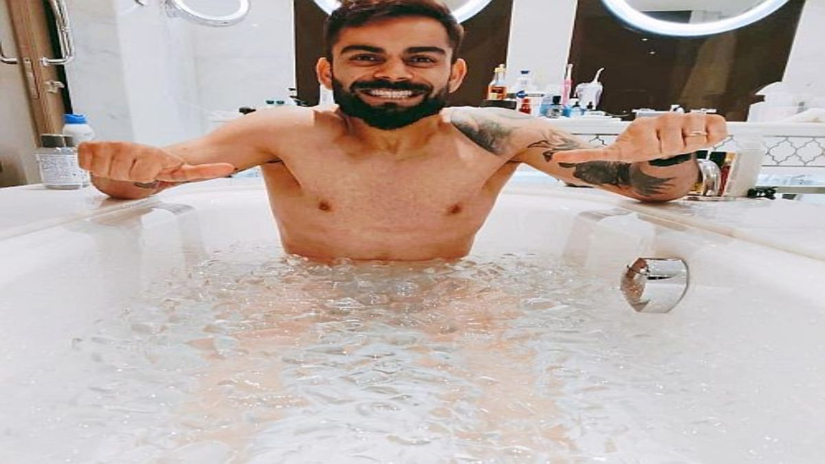 RCB Captain Take Ice Bath Post Training Session, Shares Pic