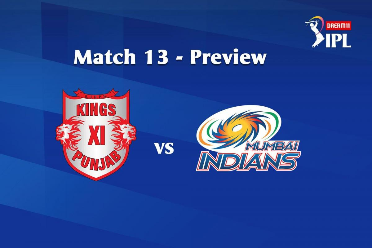 KXIP Take On MI- Players Who Can Change The Match And Prediction