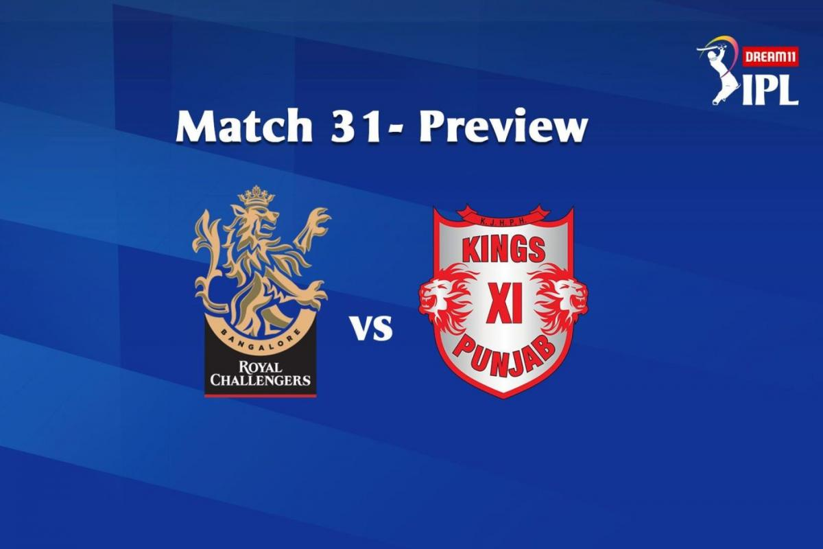 Match 31 RCB To Face KXIP In Sharjah, See Their Head-To-Head Stats