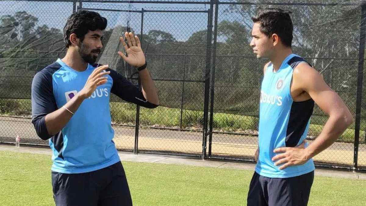 Jasprit Bumrah spotted guiding the young Indian pacer Kartik Tyagi during a training session in Sydney