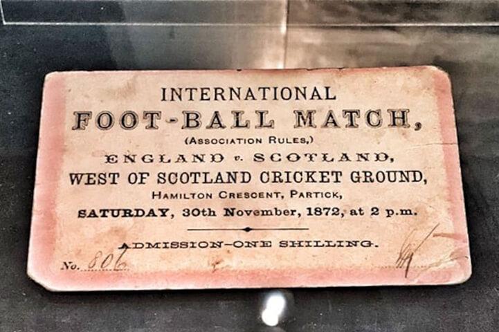 First Ever International Football Match
