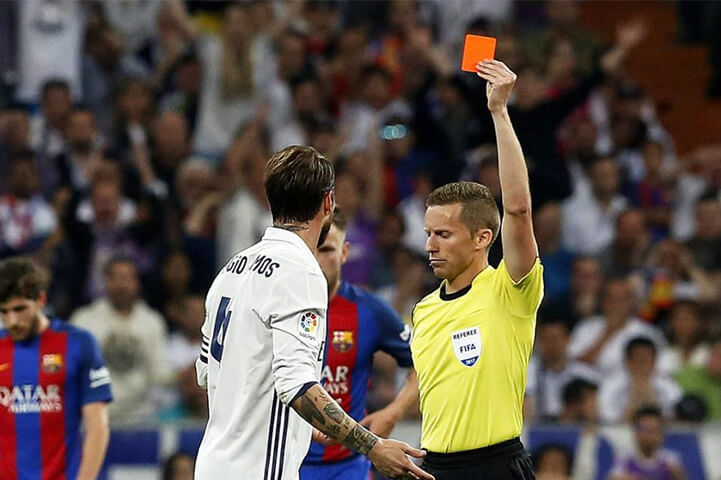 Most Red Cards In A Match