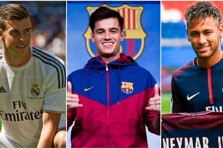 Player Transfer Fees Paid In Footballs