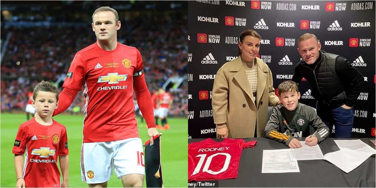 Wayne Rooney's Eldest Ron Kai Signs For English Football Club Manchester United