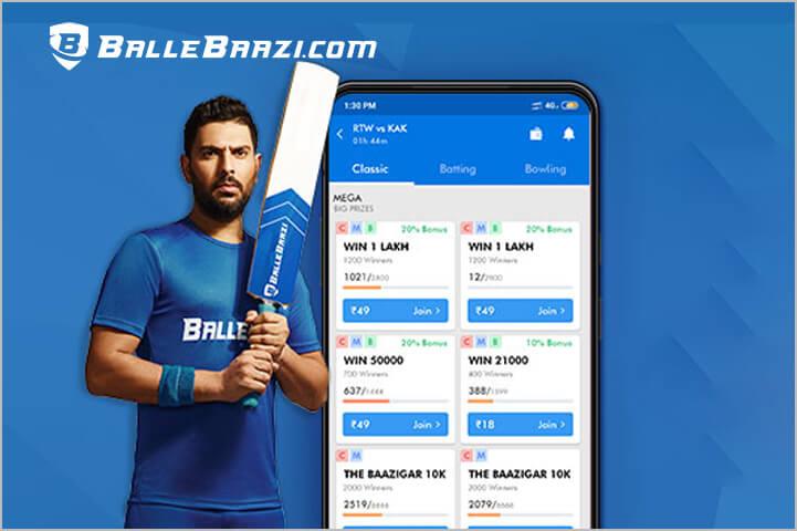Ballebaazi Best Fantasy Cricket App