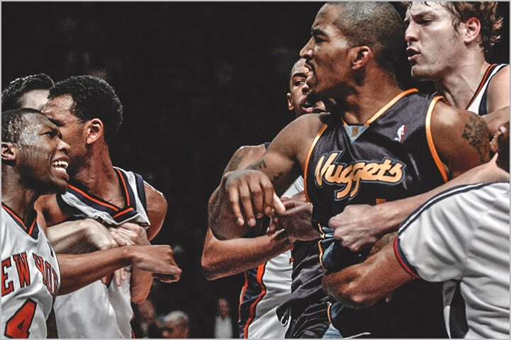 Most infamous brawl in history of NBA