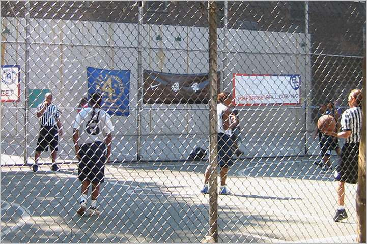Basketball In A Cage