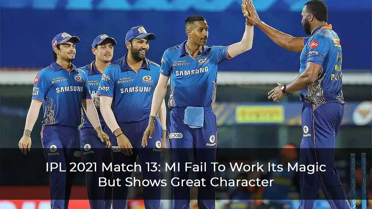 IPL 2021 Match 13 Amit Mishra Destroys Mumbai Indian's Batting Order
