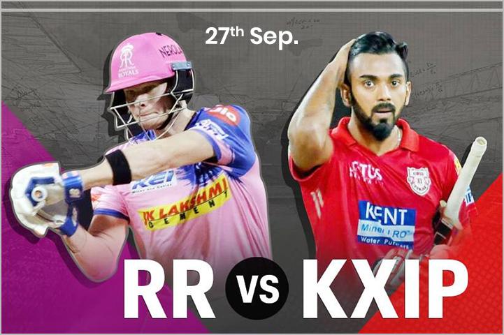 Rajasthan Royals (RR) Vs Kings XI Punjab (KXIP), 27th September, IPL 2020-Best IPL Matches