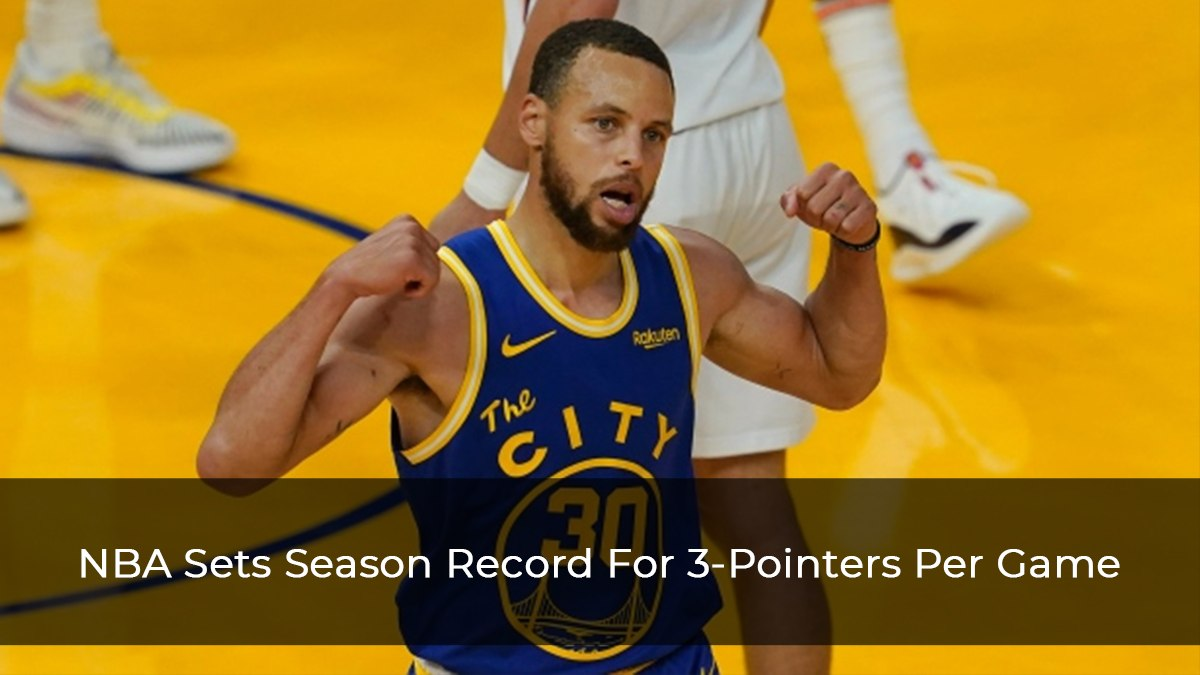 NBA Sets Season Record For 3-Pointers Per Game