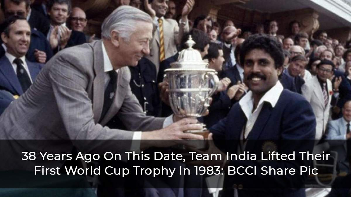 38 Years Ago On This Date, Team India Lifted Their First World Cup Trophy In 1983: BCCI Share Pic