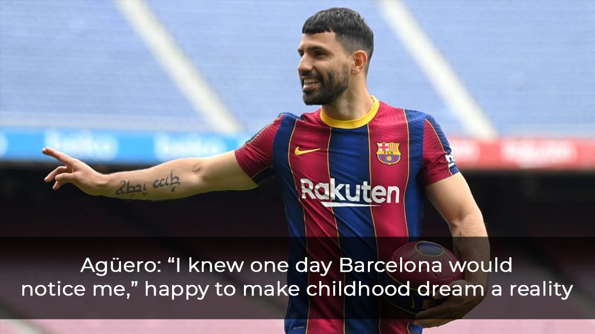 """Agüero: """"I Knew One Day Barcelona Would Notice Me,"""" Happy To Make Childhood Dream A Reality"""