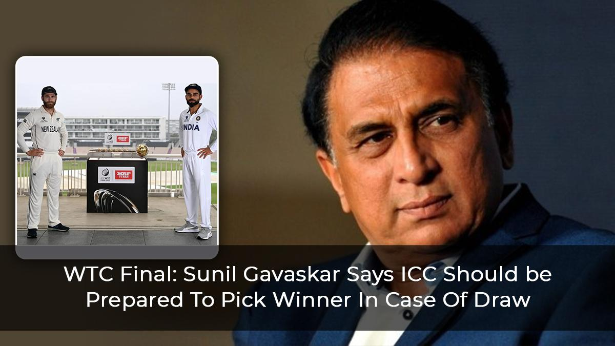 WTC Final: Sunil Gavaskar Says ICC Should Come Up With Formula To Pick Winner In Case Of Draw
