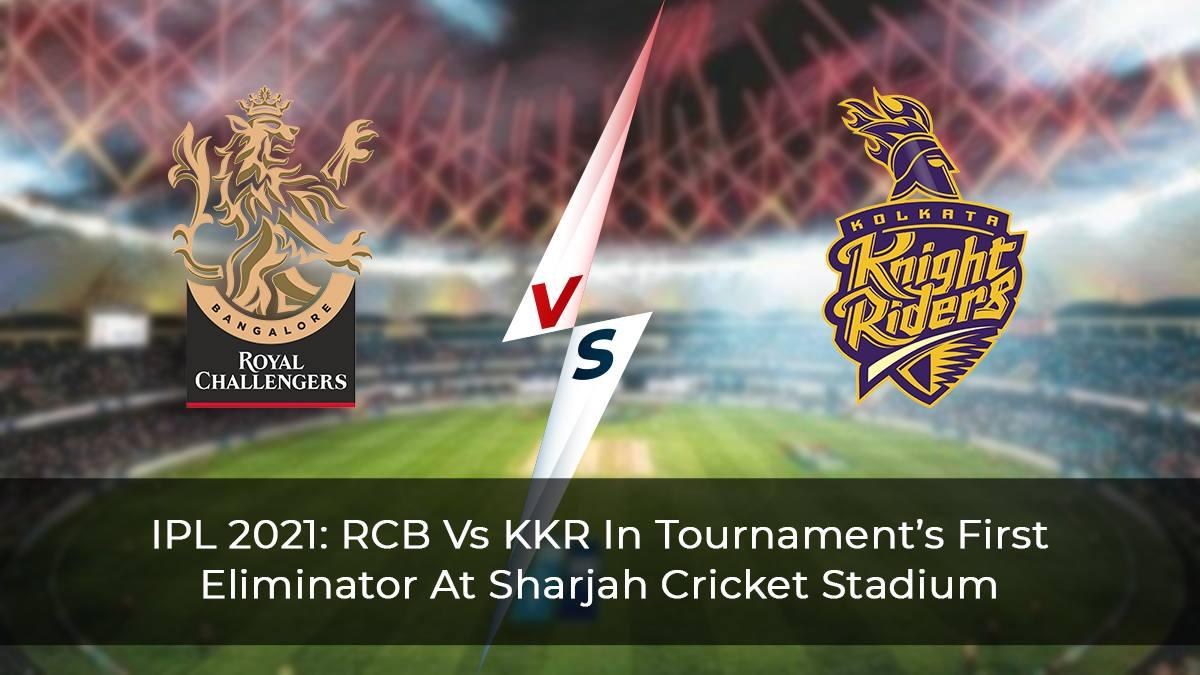 IPL-2021--RCB-Vs-KKR-In-Tournament's-First-Eliminator-At-Sharjah-Cricket-Stadium