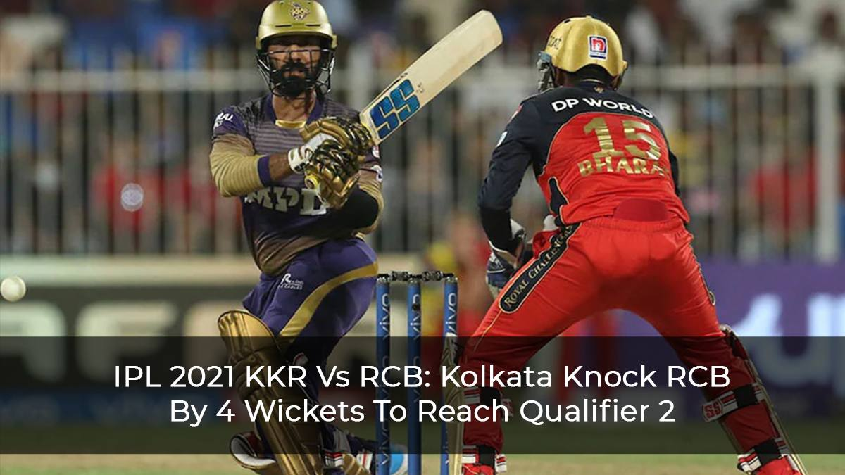 KKR Defeats RCB Out In Kohli's Last Match As RCB Captain, To Meet DC In Qualifier 2